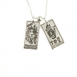 Two Tarot Cards in one Necklace