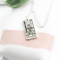 The High Priestess Tarot Card Necklace