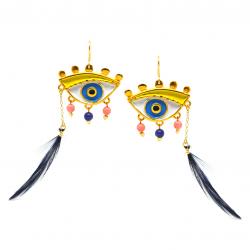 Magician's Yellow Eyes Big Earrings