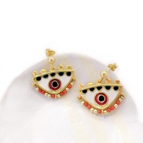 Magician's Red Small Earrings
