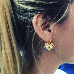 Magician's light blue Small Earrings