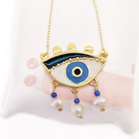 Magician's Pearl Eye (big) Necklace