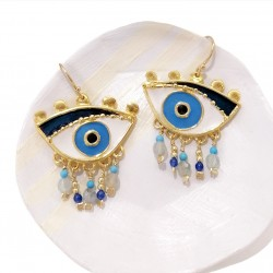 Magician's Blue Eyes Big Earrings