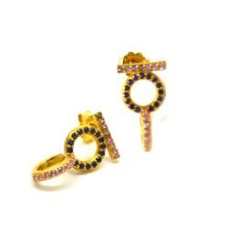 Σκουλαρίκια Double chain