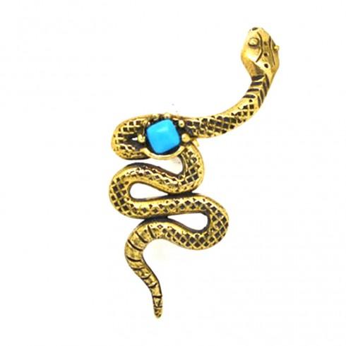 Coiled Snake Ear cuff Ορειχάλκινο