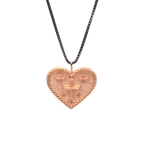 Κολιέ Cross heart